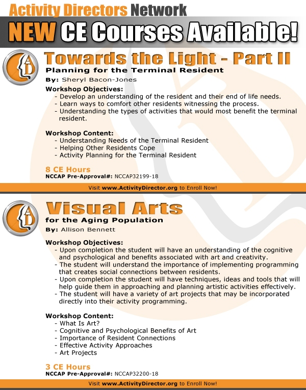 New NCCAP Approved CE Workshops @ ActivityDirector.org - Open ...
