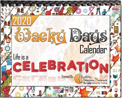 2020 Wacky Days Calendar