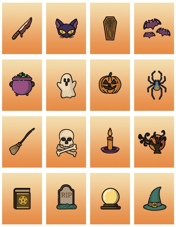 Halloween Card Finder Scavenger Hunt